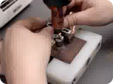 welding_operation_of_copper_braid_on_the_contact